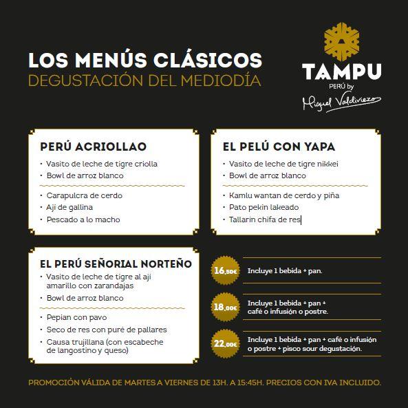 Menú Degustación Comida Peruana